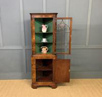 Good Burr Walnut Corner Cabinet (7 of 7)