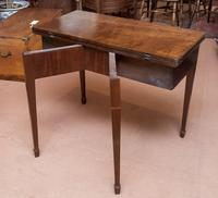 Mahogany Tea Table with Fold-Over Top (2 of 4)
