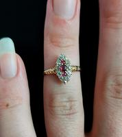 Victorian Ruby & Diamond Navette Ring (12 of 14)