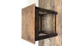 Antique 18th Century Oak Stool (6 of 10)