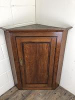 Georgian Oak Wall Hanging Corner Cupboard (7 of 8)