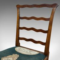 Pair of Antique Ladder Back Chairs, Irish, Mahogany, Side, Georgian c.1780 (3 of 11)
