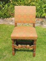8 Waring & Gillow Chairs Oak William Morris Fabric (9 of 10)