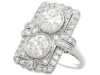 4.84ct Diamond & Platinum Dress Ring - Art Deco - Antique French c.1920 (3 of 9)