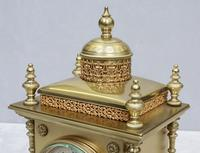 French Belle Epoque Brass Mantel Clock by Japy Freres (5 of 7)