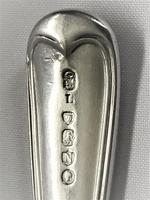Victorian Fiddle & Thread Pattern Silver Butter Knife (2 of 4)