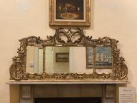Late 19th Century Ornately Carved Giltwood 3-Section Overmantel Mirror (6 of 6)