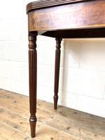 19th Century Mahogany & Boxwood Fold Over Table (4 of 10)