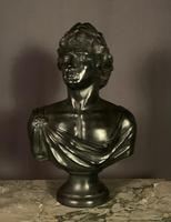 Large Bronzed Plaster Library Bust Appollo (9 of 9)