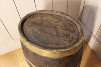 Georgian Oak Brandy Barrel. Stick Stand. Lamp Table (4 of 11)