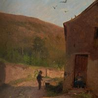 Frederik Rohde, Rural Scene With Chickens, Landscape Painting (7 of 7)