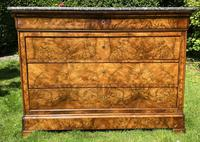 French Louis Philippe Commode in Figured Walnut (8 of 9)
