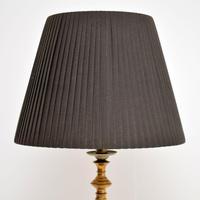 Antique Brass &  Mahogany  Floor  Lamp (9 of 9)
