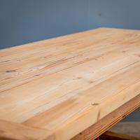 """""""h"""" Stretcher Pine Kitchen Table (2 of 8)"""
