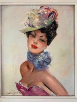 Jules Gustave Lempereur - Pair of Parisian Ladies - Oils on Canvas (4 of 5)