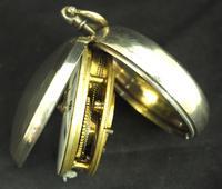 Antique Silver Pair Case Pocket Watch Fusee Verge Escapement Key Wind Enamel P Edmonds Liverpool (3 of 10)