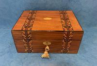 Victorian Walnut Inlaid Jewellery Box