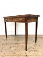 19th Century Mahogany Fold Over Tea Table (6 of 12)