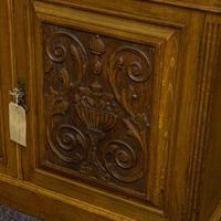 Edwardian Oak Bookcase (6 of 6)