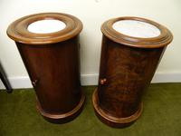 Pair of Mahogany Cylinder Bedside Cabinets (7 of 7)