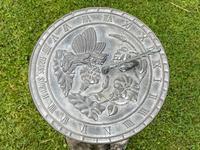 Large' Victorian Style' 3 Cherubs Stone Sundial Fairy Brass Top Timepiece (5 of 29)