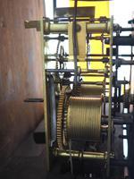 Antique Longcase Clock Fine English Oak Striking Grandfather Clock Painted Dial (10 of 10)