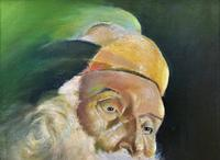 Early 1900s Oil Portrait Painting of Elderly Bearded Indian Gent (6 of 12)