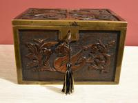 Continental 19th Century Carved Oak Casket Box (2 of 8)