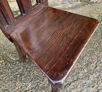 Antique Gothic Oak Hall Chair (12 of 13)