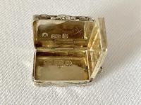 Small Sterling Silver Vinaigrette. Birmingham 1847 (6 of 7)