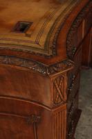 Large Mahogany Serpentine Shaped Partners Desk (11 of 20)