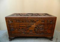 Oriental Carved Camphor Wood Trunk (6 of 7)