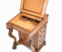 Victorian Davenport Desk Walnut Inlay c.1860 (6 of 14)