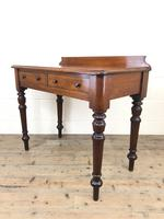 Antique Victorian Mahogany Two Drawer Side Table (6 of 15)