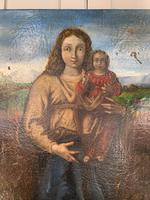 Antique Spanish oil painting study of Madonna and child (5 of 10)