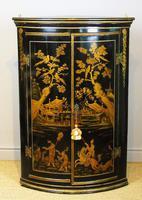 Handsome Regency Chinoiserie Corner Cabinet