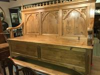 Gothic Pine Bench with storage (6 of 11)