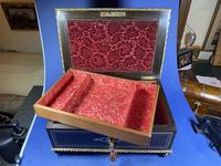 19th Century French  Ebonised Fruitwood Jewellery Box (7 of 18)