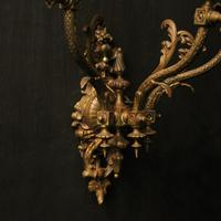 English Pair of Bronze Antique Gasoliers (8 of 10)