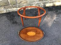 Edwardian Inlaid Mahogany Tray Top Coffee Table (3 of 7)