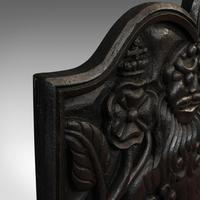 Antique Fireback, English, Cast Iron, Decorative Fireplace, Victorian c.1900 (2 of 8)