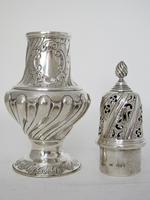 Large Victorian Embossed Silver Sugar Caster with a Detachable Lid (2 of 7)