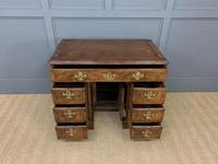 18th Century Burr Walnut Kneehole Desk (12 of 14)