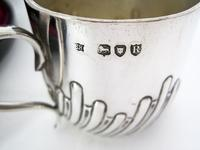 Victorian Silver Boxed Christening Set Comprising Tea Cup, Saucer & Tea Spoon (5 of 6)