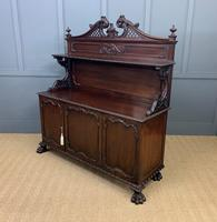 Late Victorian Carved Mahogany Chiffonier (5 of 17)