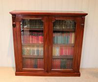 Late 19th Century Glazed Two Door Bookcase (3 of 7)