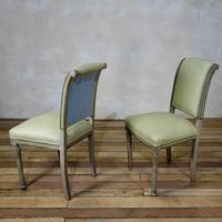 Pair of French Painted Louis XVI Style Side Chairs (3 of 12)