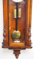 Fine Antique German Twin Walnut 8-Day Mantel Clock Vienna Striking Wall Clock (10 of 35)