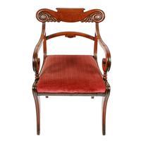 Georgian Mahogany Sabre Leg Chair (2 of 8)