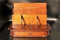 Late 19th Century Oak Slope Fronted Correspondence Box (2 of 5)